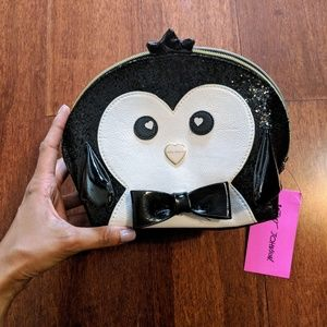 Betsey Johnson Penguin Cosmetic Bag